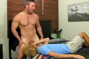 Brock Landon And Evan Stone - Riding A Straight Muscle Man